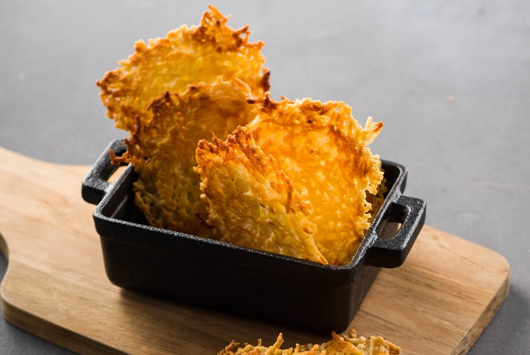 frico montasio cheese crisps