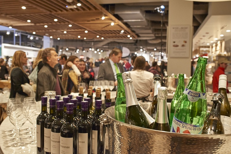eataly boston water wine