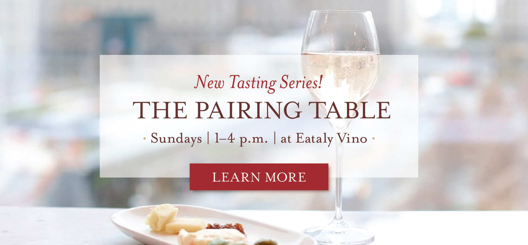 Meet Us at The Pairing Table