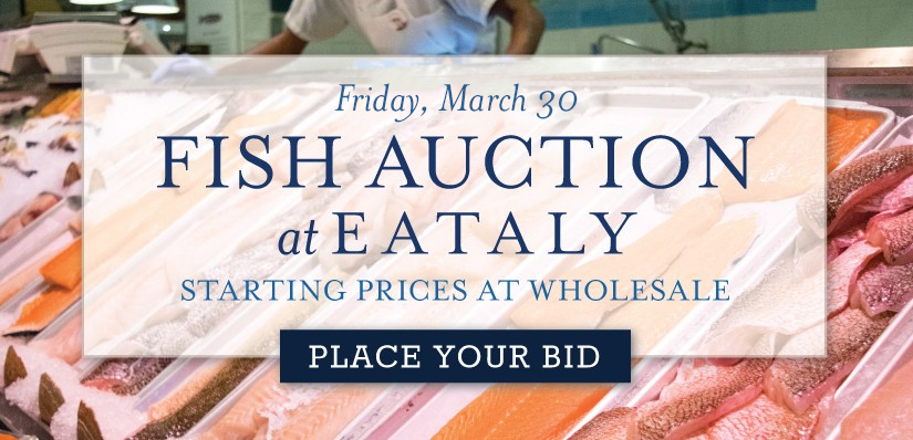 Fish Auction at Eataly NYC Downtown