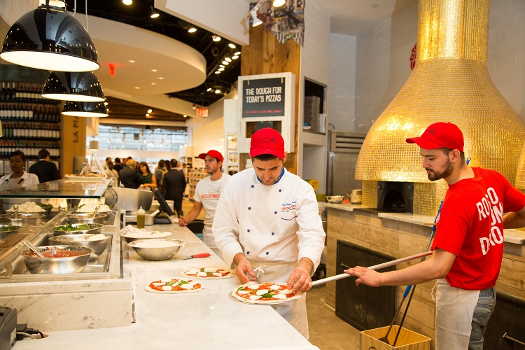 Eataly Downtown NYC rossopomodoro pizza oven