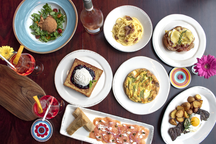 Brunch dishes at Eataly NYC Downtown