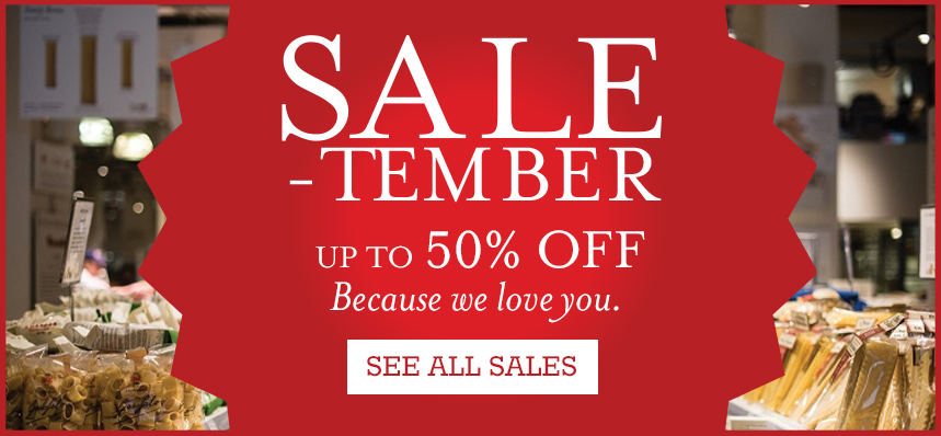 Sale-tember at Eataly NYC Flatiron