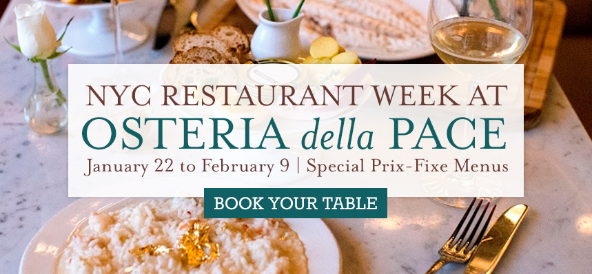 NYC Restaurant Week at Osteria della Pace