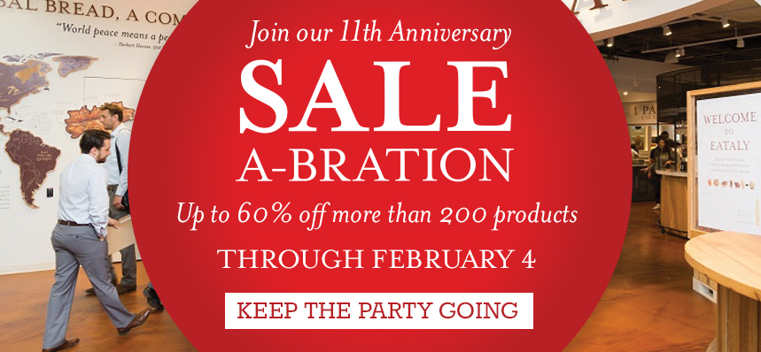 Sale-a-bration at Eataly NYC Downtown