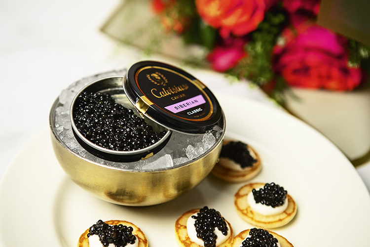 Valentine's Day caviar at Eataly