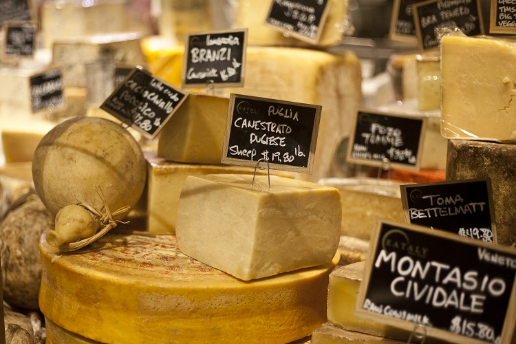 Piazza Eataly cheese formaggi
