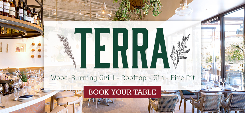 Dine at our Rooftop Restaurant Terra
