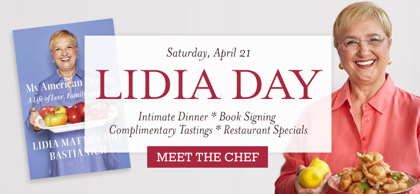 Celebrate Lidia Bastianich at Eataly Chicago