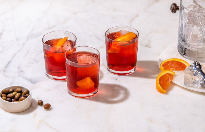Negroni Cocktail at Eataly