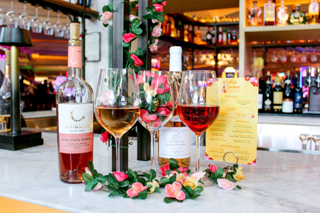 Glasses of Rosè at our Endless Summer pop-up bar