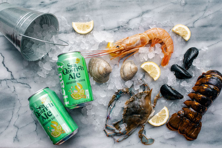 Dogfish Seaquench Ale and Seafood at Eataly