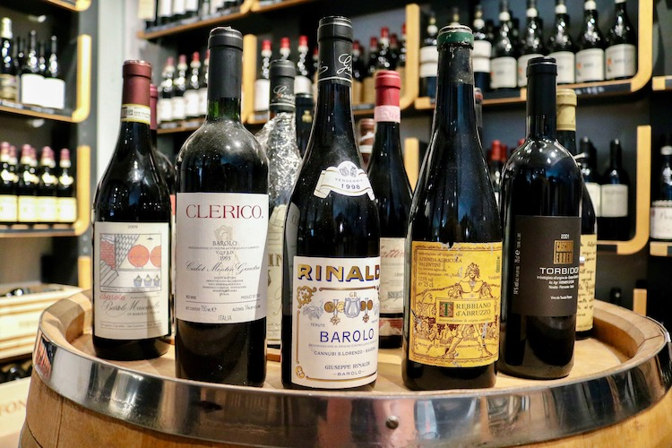 Rare Vintage Wine Bottles at Eataly NYC Flatiron