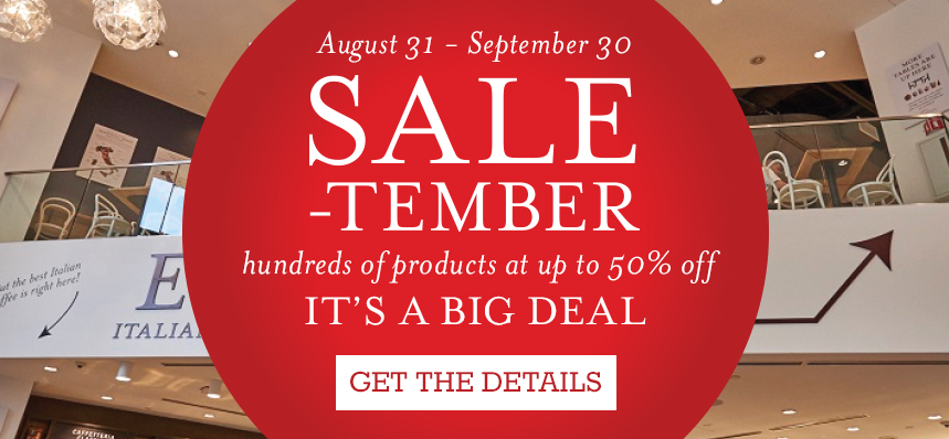 SALE-tember at Eataly Boston