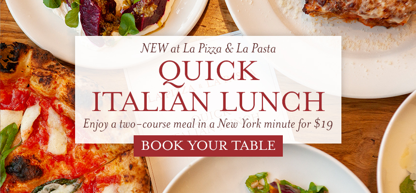 Quick Italian Lunch Options at Eataly Downtown