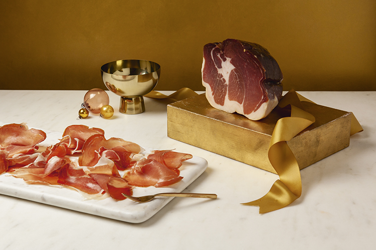 whole culatello at Eataly