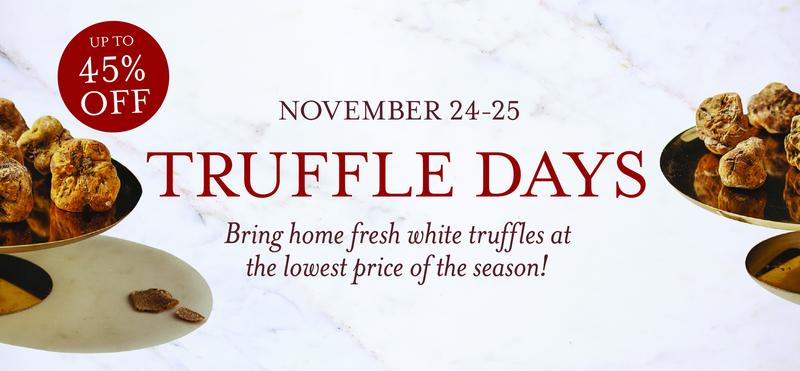 Truffle Days at Eataly NYC Downtown