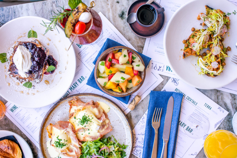 Italian-style brunch at Terra, Eataly's rooftop bar and restaurant in Los Angeles