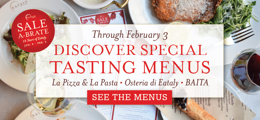 Sale-a-brate with Special Tasting Menus