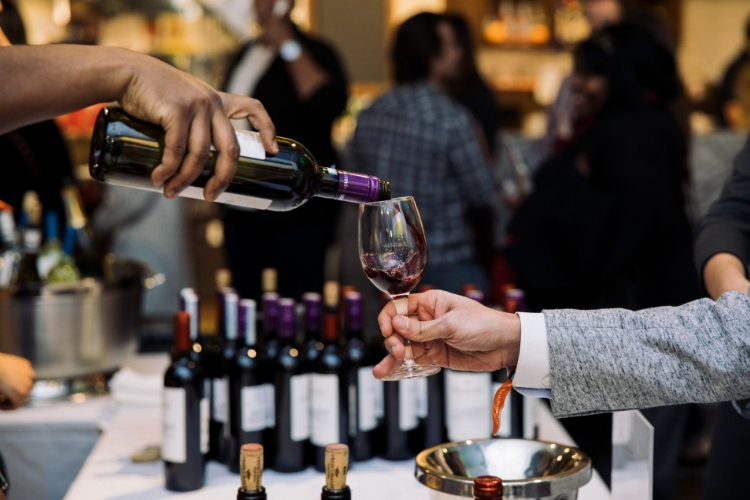 Wine Tasting Event at Eataly Chicago. Photo credit to Dietz Studio.