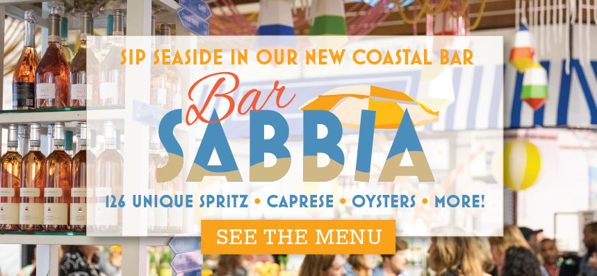 Bar SABBIA Open Now at Eataly Chicago