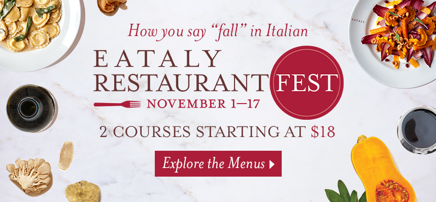 Restaurant Fest at Eataly NYC Downtown