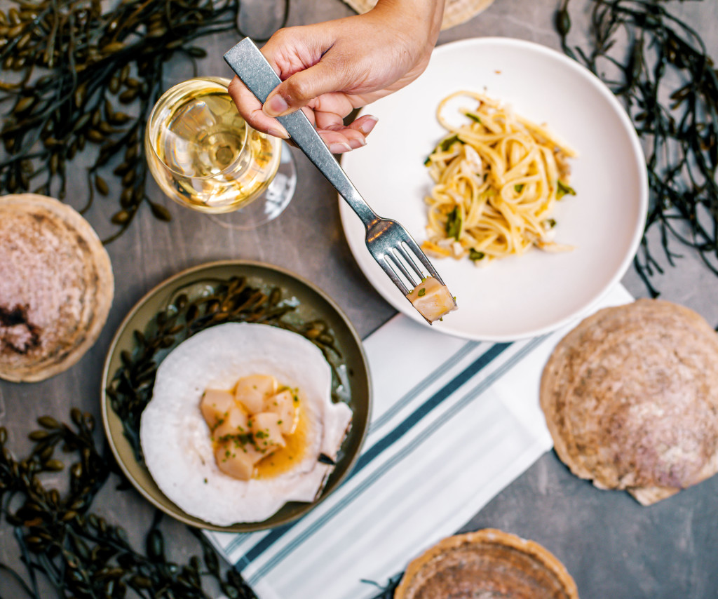 Dishes at La Pescheria, Eataly's seafood restaurant in Boston
