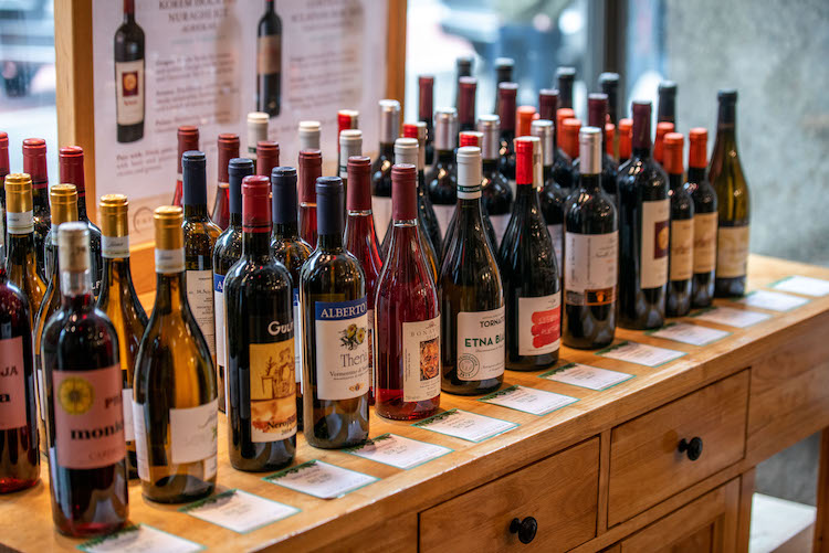 Wine bottles at Eataly Vino: The Wine Shop at Eataly NYC Flatiron
