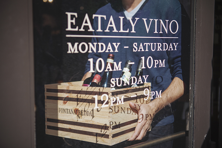 Eataly wine store in NYC
