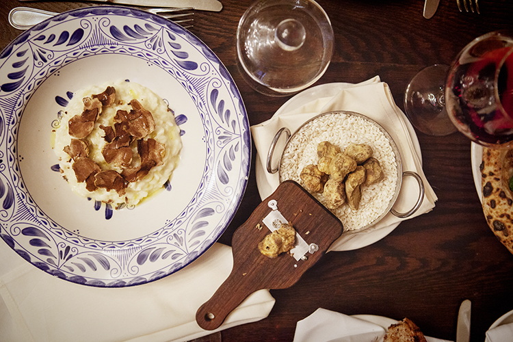 white truffles at Eataly
