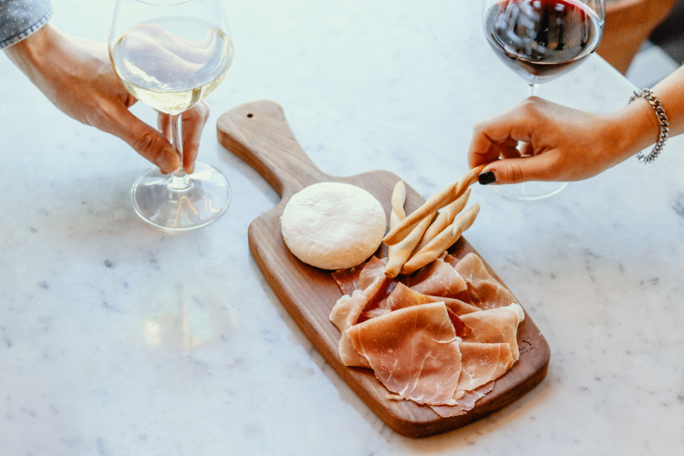 Prosciutto and wine pairing at Eataly Flatiron in New York