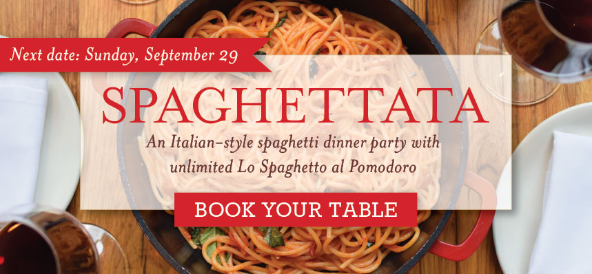 A Spaghetti Dinner Party at Eataly