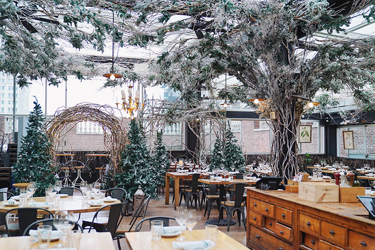 winter rooftop restaurant at Eataly NYC Flatiron