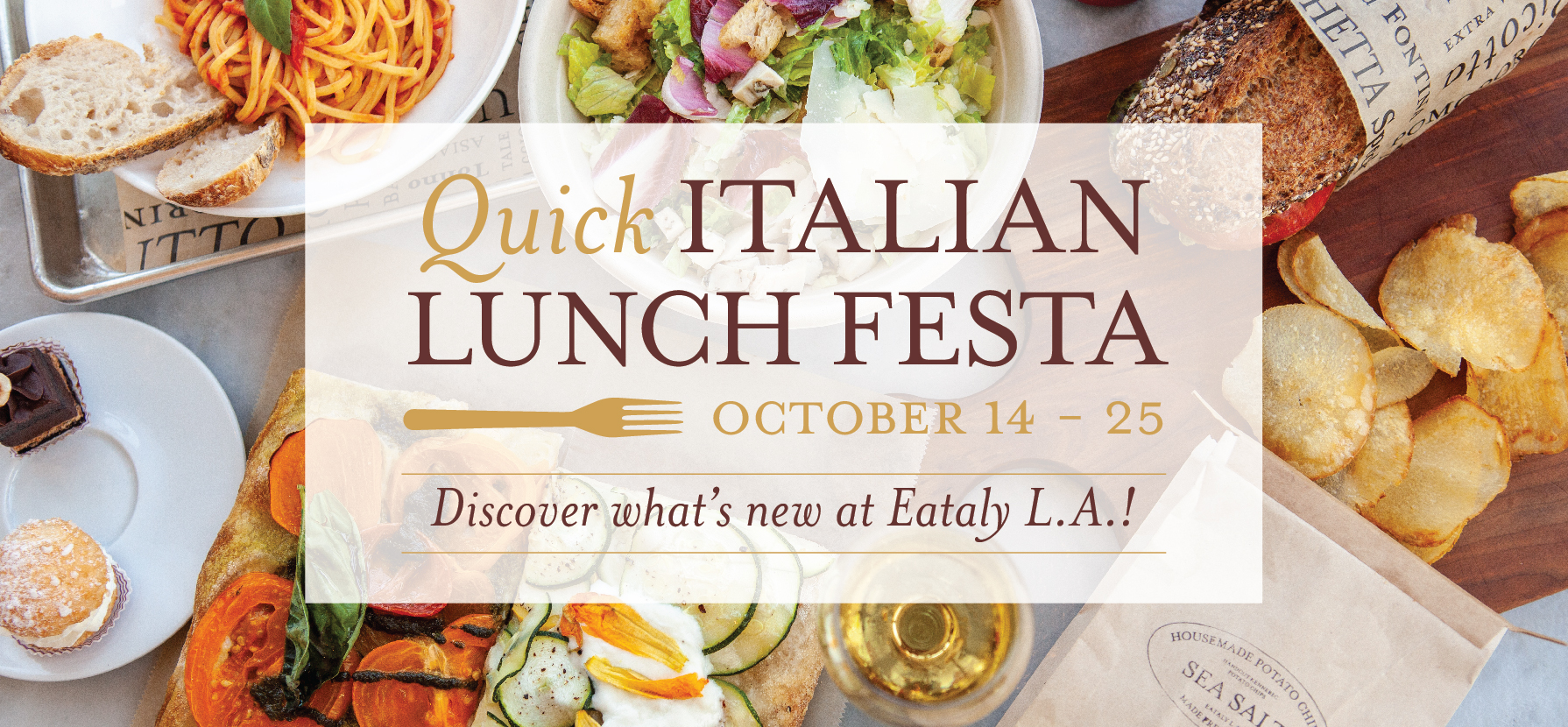 Quick Italian Lunch Festa at Eataly L.A.