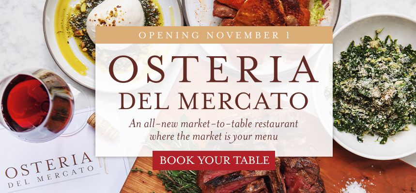 The Market is Your Menu at Osteria del Mercato