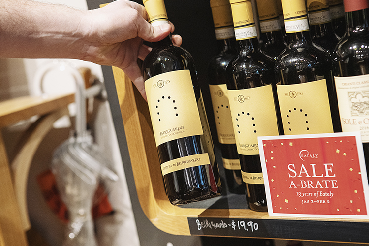Wine sale at Eataly