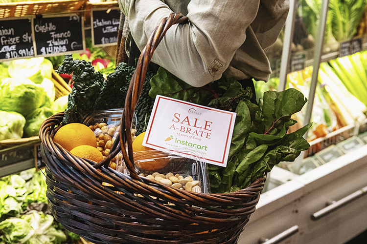 Fresh vegetables on sale at Eataly