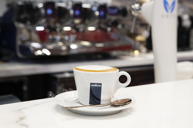 cappuccino at Caffe Lavazza in Eataly NYC Flatiron