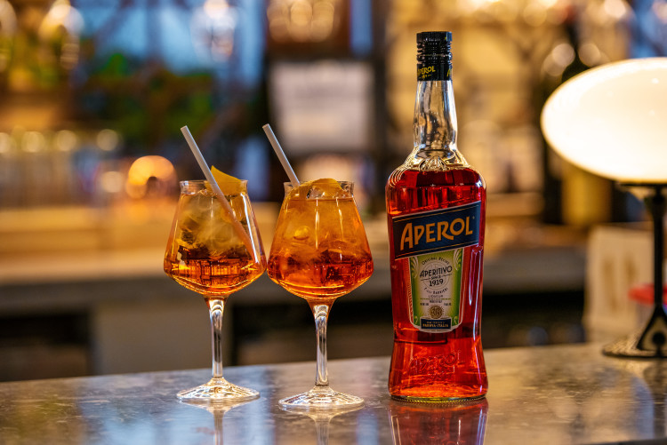 apeorl spritz for aperitivo at Eataly