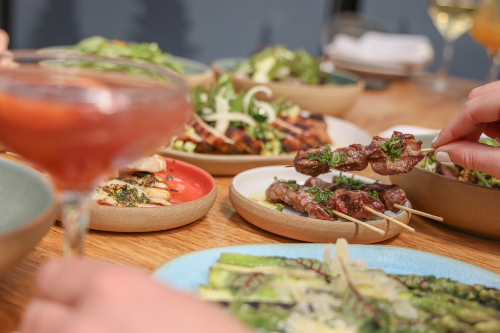 Grilled dishes at Eataly NYC rooftop restaurant