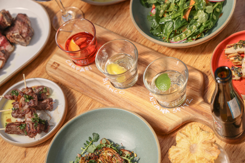 Rooftop drinks and Italian food at Serra Eataly