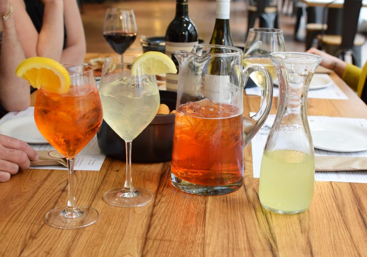 Aperol Spritz pitcher at Eataly Chicago