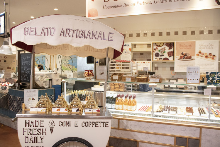 Gelato and Italian pastries at Eataly NYC