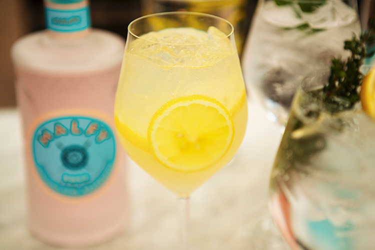 gin fizz with Malfy gin