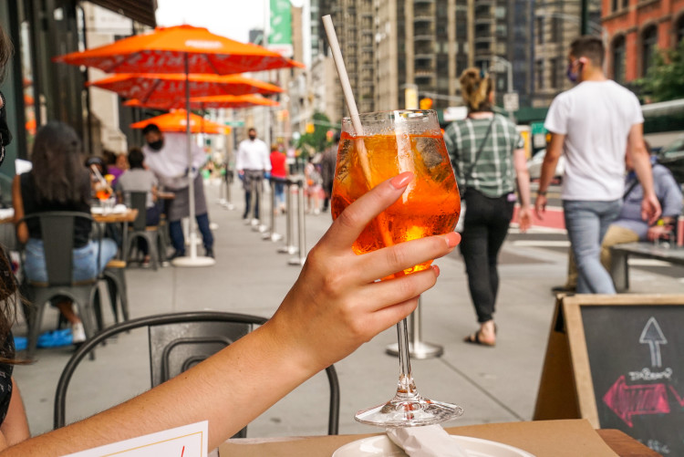Outdoor dining patio at Eataly Flatiron NYC