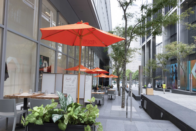 outdoor dining at Eataly Downtown