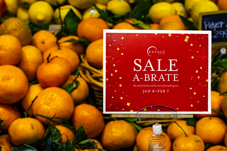 produce on sale at Eataly