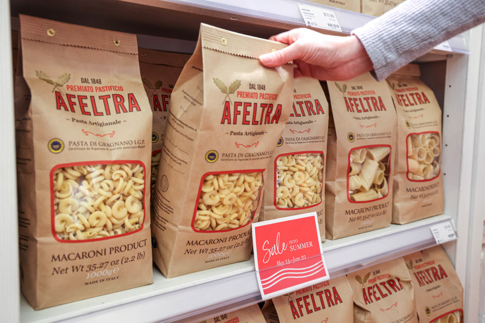 Afeltra pasta on sale at Eataly