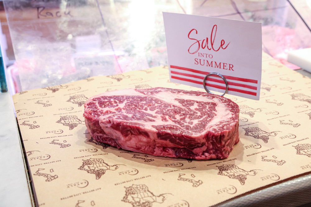 Snake River Farms Wagyu on sale at Eataly
