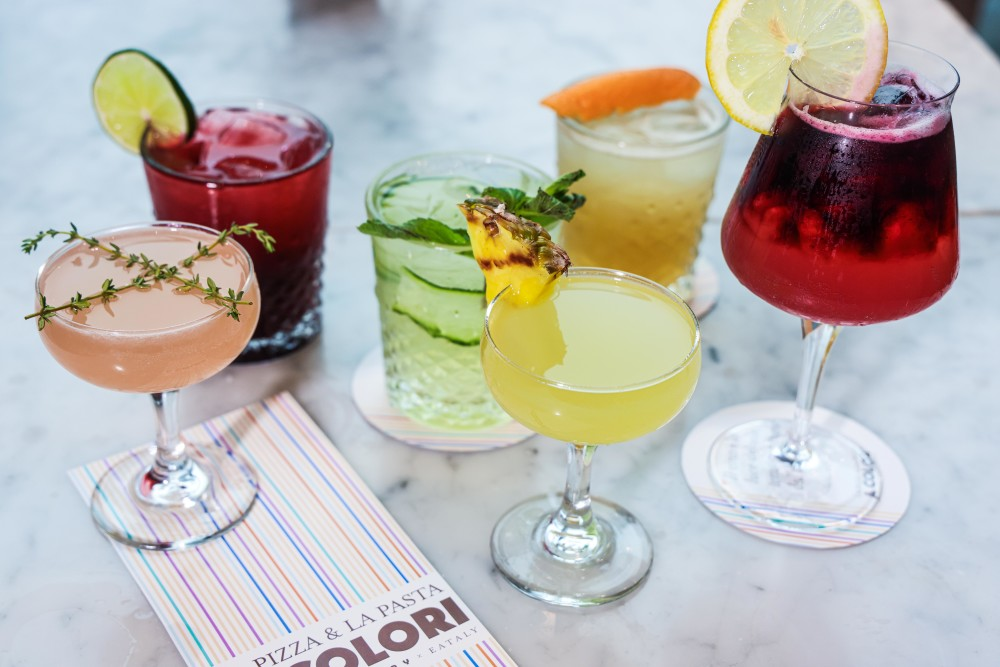Colorful Cocktails from Eataly NYC Downtown Color Factory Restaurant